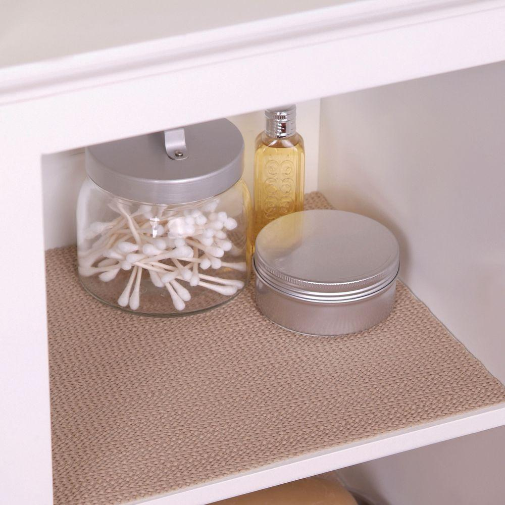 Superieur Con Tact Grip Taupe Shelf/Drawer Liner