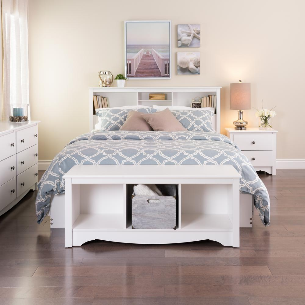 Prepac monterey cubbie bench wsc 4820 the home depot for Bedroom furniture without bed