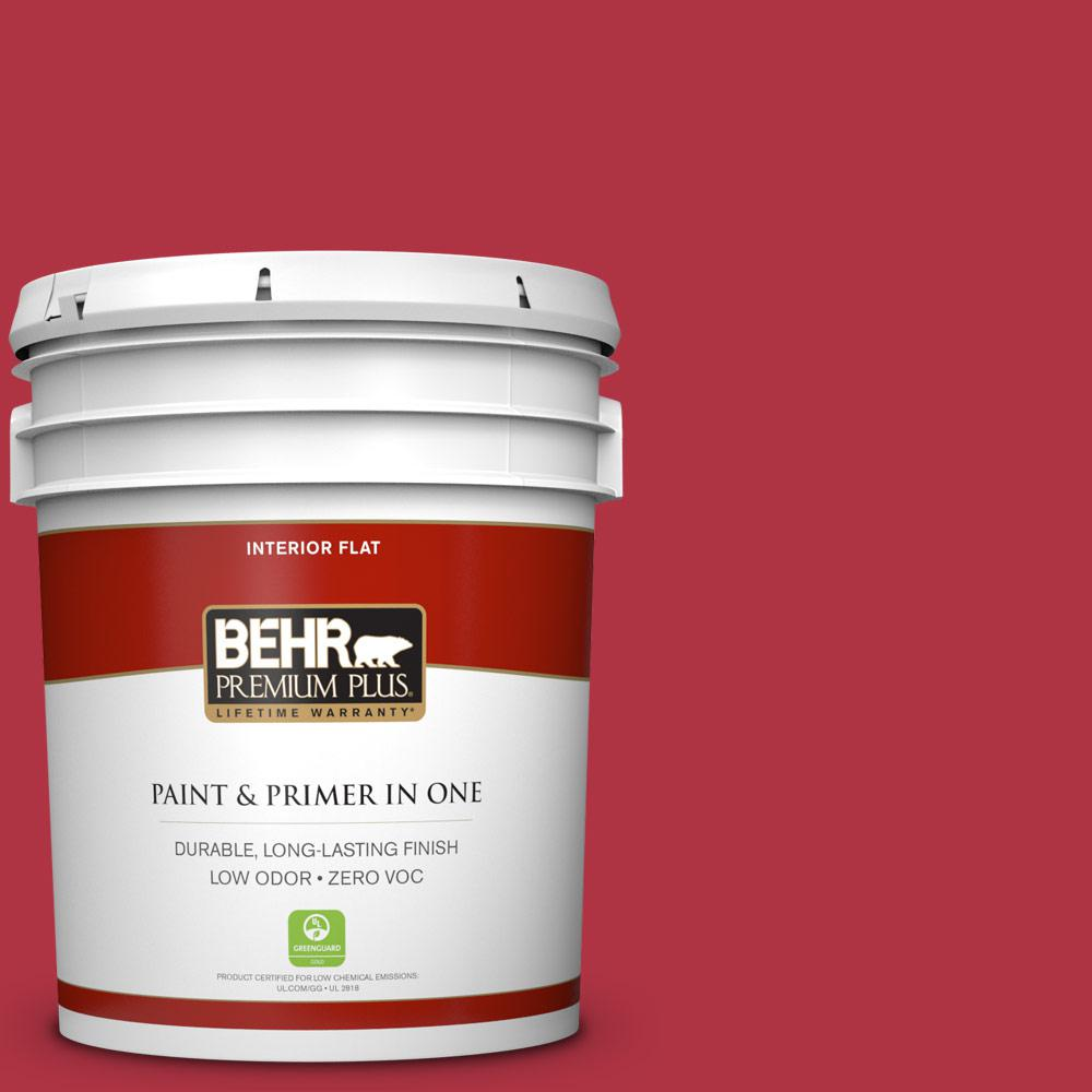 5 gal. #140B-7 Frosted Pomegranate Zero VOC Flat Interior Paint