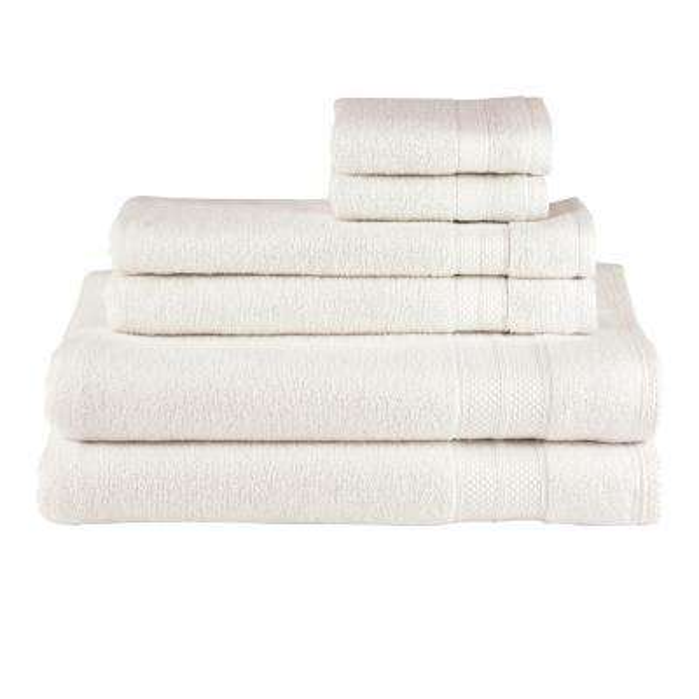 Solid 6-Piece Parchment Towel Set