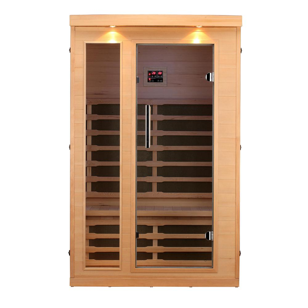 Canadian spa company huron 2 person far infrared sauna ky for Sauna home