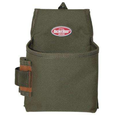 6.5 in. 1-Pocket Fastener Pouch with Flap Fit
