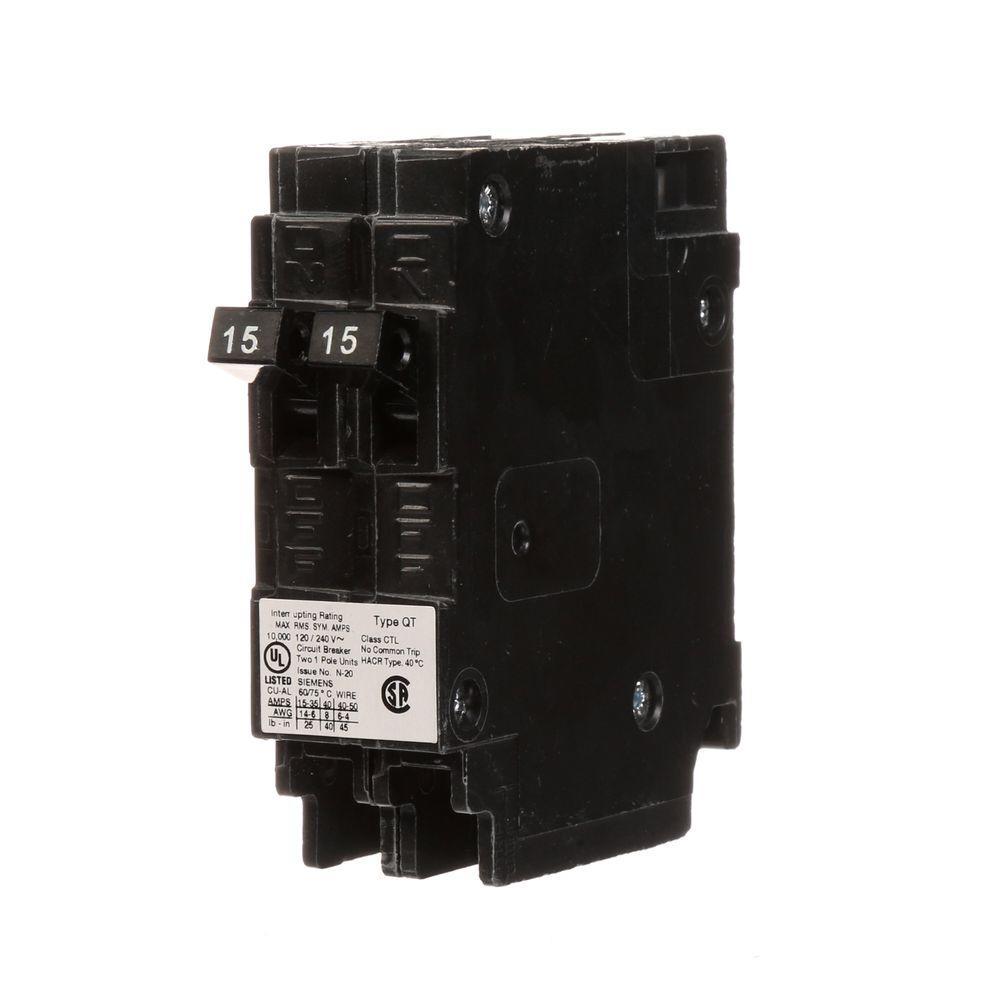 Fabulous Siemens 15 Amp Single Pole Type Qp Circuit Breaker Q115U The Home Wiring Database Cominyuccorg