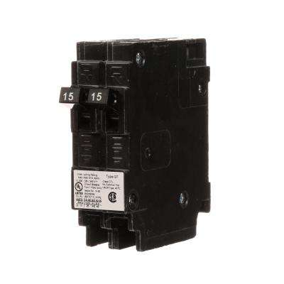 15 Amp Tandem Single Pole Type QT Circuit Breaker