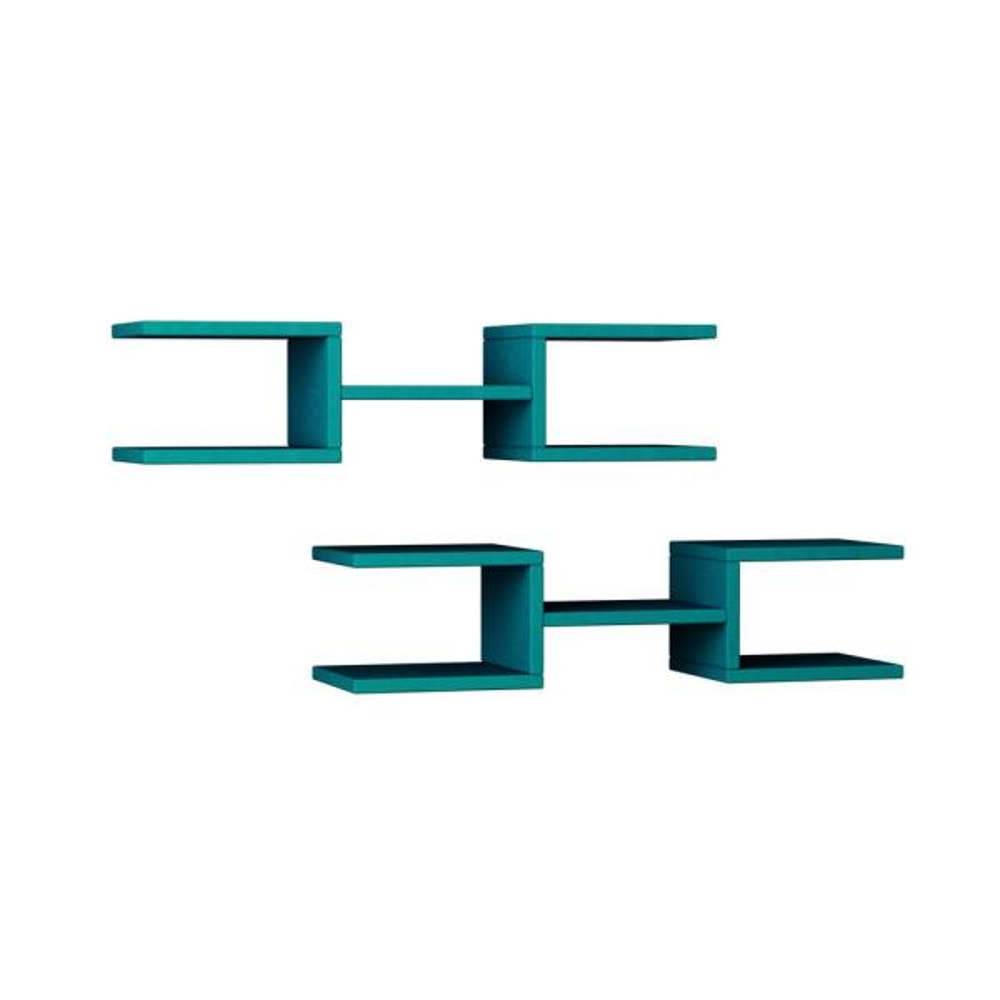 Ada Home Decor Welby Turquoise Mid-Century Modern Wall Shelf DCRW2058