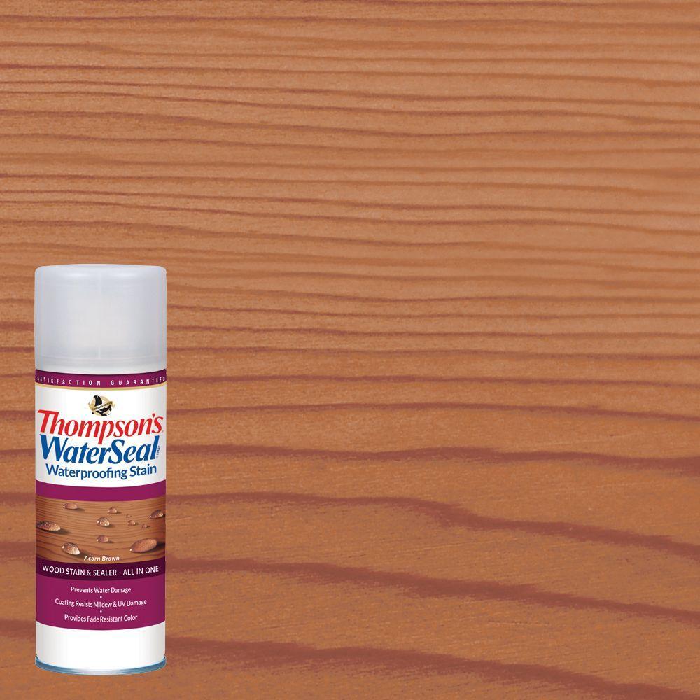 11.75 oz. Acorn Brown Waterproofing Stain Aerosol Spray Exterior Wood