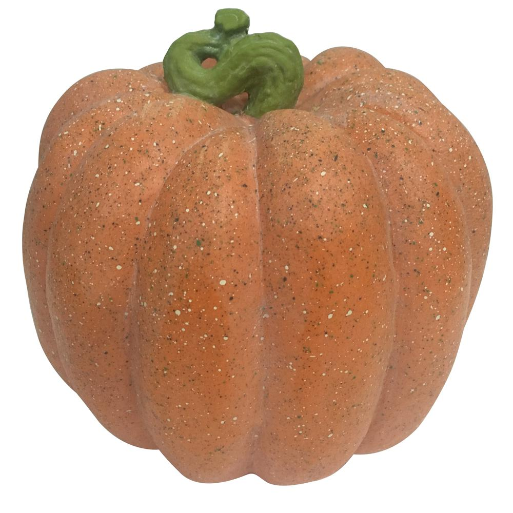 Home Accents Holiday 8.5 in. Harvest Pumpkin in Orange