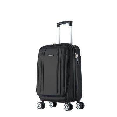 SouthWorld lightweight hardside spinner 19 in. carry-on-Dark Gray Brush
