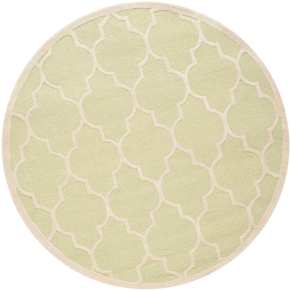 Cambridge Light Green/Ivory 6 ft. x 6 ft. Round Area Rug