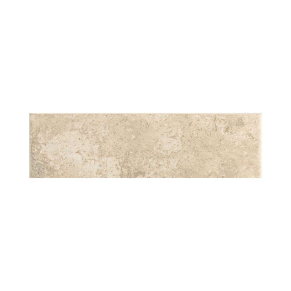 Daltile Stratford Place Alabaster Sands 3 in. x 10 in. Ceramic Bullnose Wall Tile (0.2083 sq. ft. / piece)