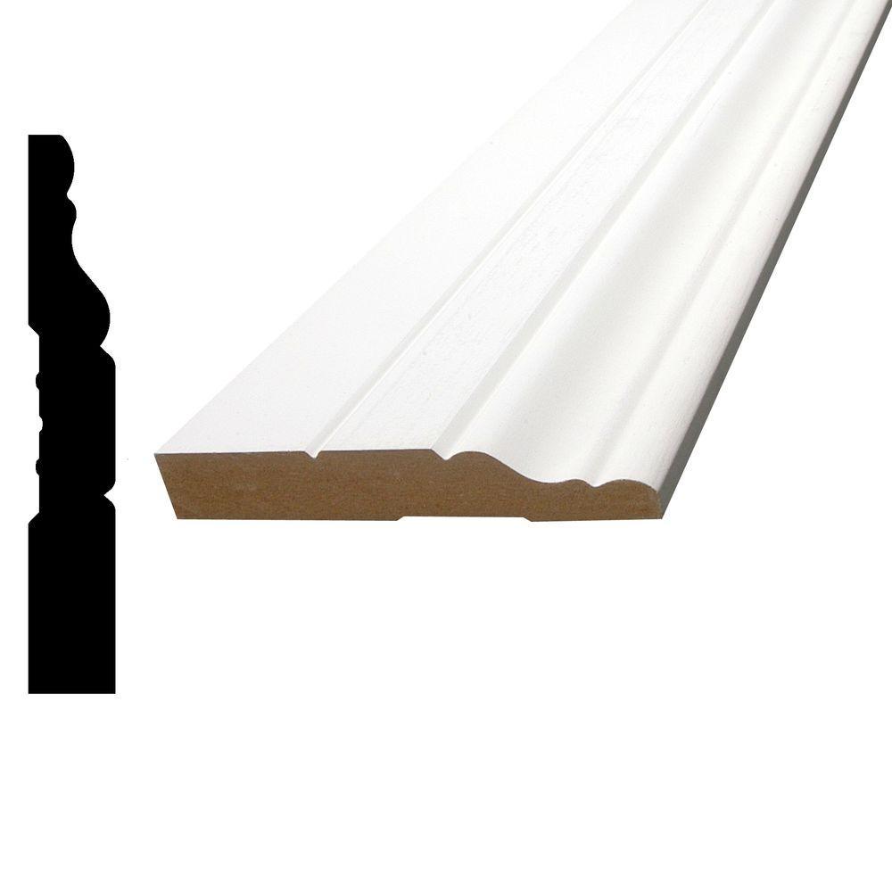 1/2 in. x 3-1/4 in. x 84 in. MDF Primed Fiberboard Base Moulding