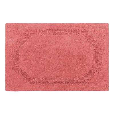 Reversible Coral 21 in. x 34 in. Cotton Bath Mat