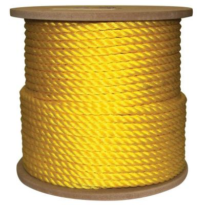 1/2 in. x 400 ft. Twisted Poly Rope Yellow