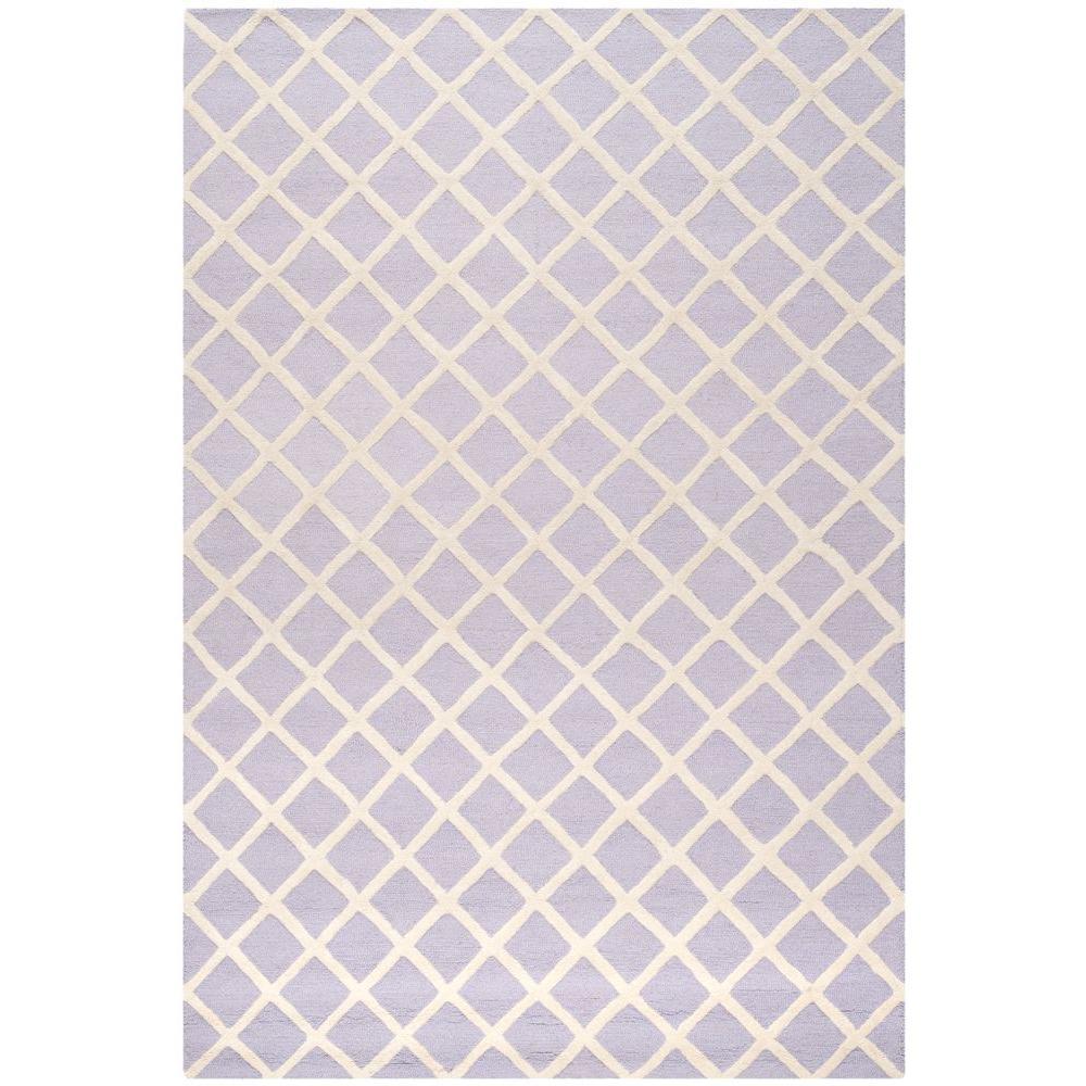 Cambridge Lavender/Ivory 6 ft. x 9 ft. Area Rug