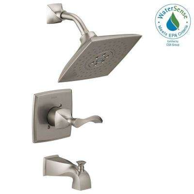 Everly H2Okinetic Single-Handle 3-Spray Tub and Shower Faucet in SpotShield Brushed Nickel