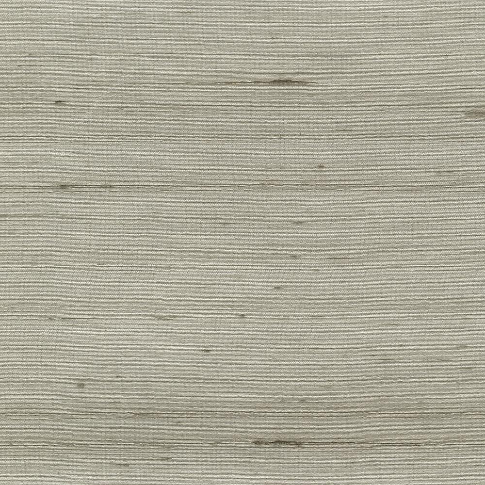 8 in. x 10 in. Makati Grey Silk Weave Wallpaper Sample