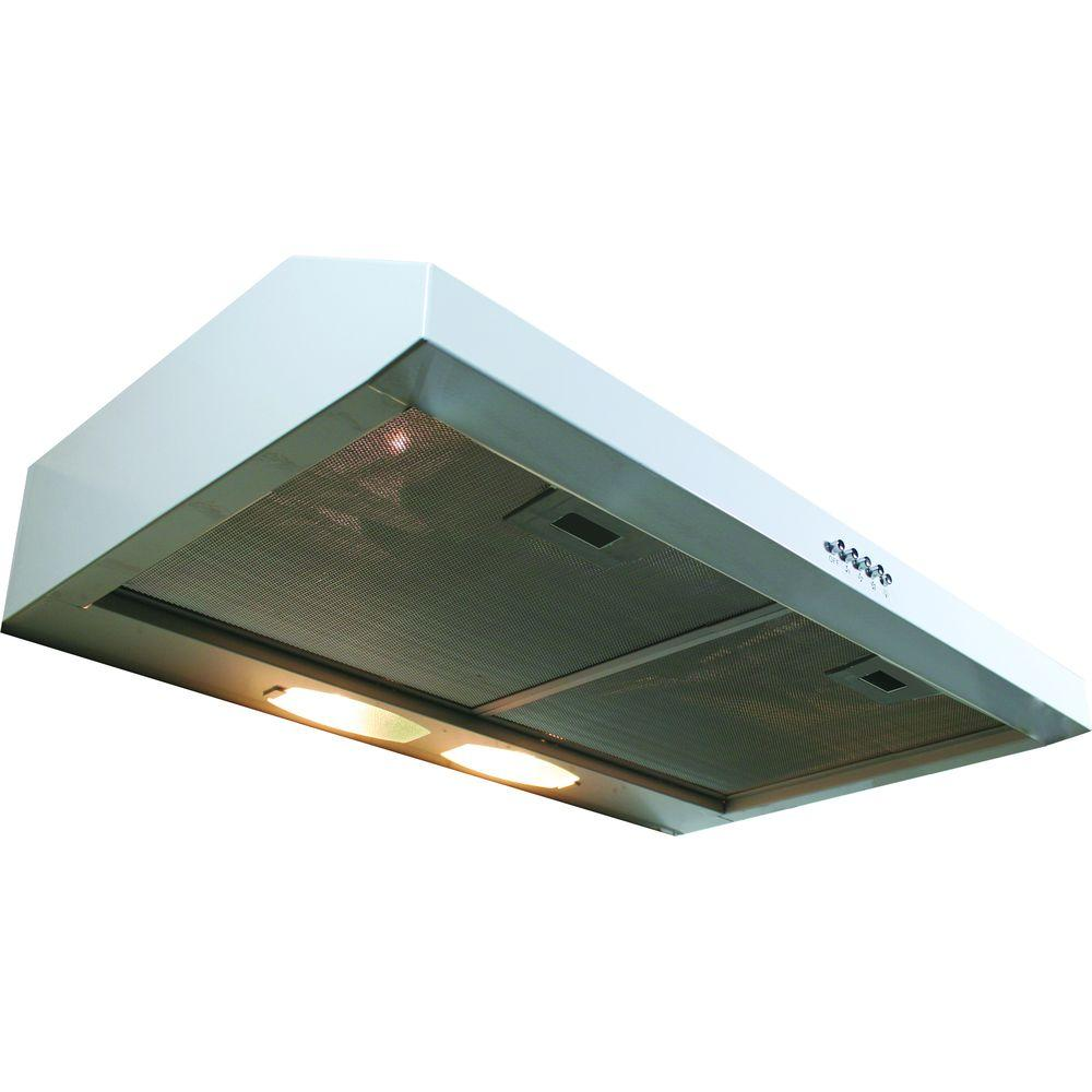 Yosemite Home Decor Builder Series 30 in. Under Cabinet Hood with 190 CFM in White