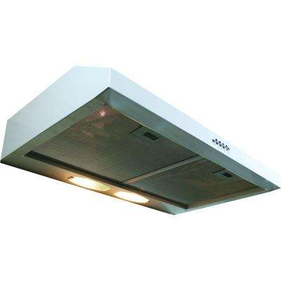 Builder Series 30 in. 190 CFM Under Cabinet Hood with Light in White