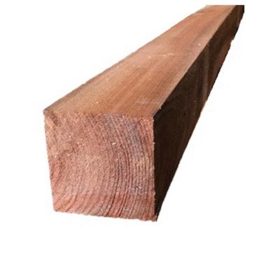 4 in  x 4 in  x 4 ft  2-Hole Western Red Cedar Split Rail