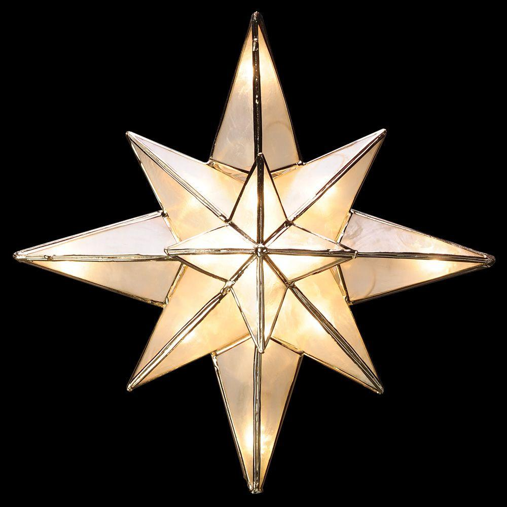 GE Clear Capiz Bethlehem Star Tree Topper 71401HD The Home Depot - Make A Christmas Star Tree Topper