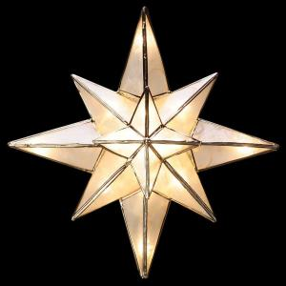 Ge Clear Capiz Bethlehem Star Tree Topper 71401hd The