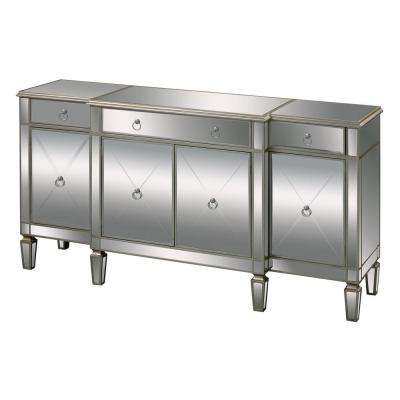 Bodrum Champagne Silver Mirrored Console Table