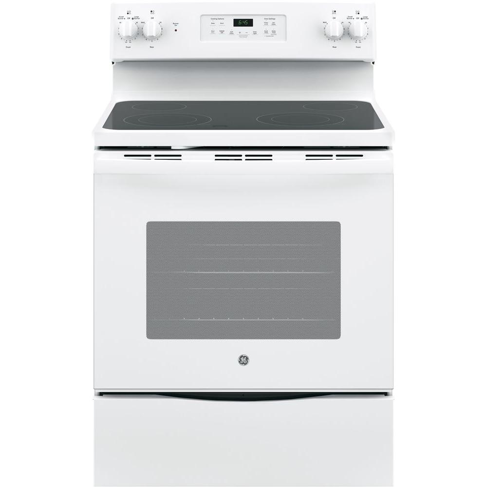 Electric Range With Self Cleaning Oven In Stainless Steel Jb645rkss The Home Depot