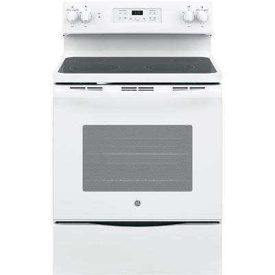 30 in. 5.3 cu. ft. Free-Standing Electric Range with Self-Cleaning Oven in White