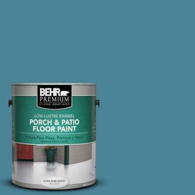 1 gal. #S480-5 Blue Moon Bay Low-Lustre Porch and Patio Floor Paint
