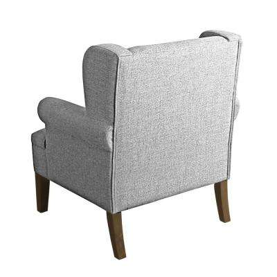 Light Gray Emerson Wingback Accent Chair