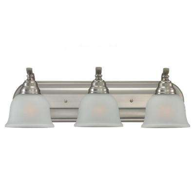 Wheaton 3-Light Brushed Nickel Vanity Light