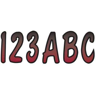 Series 200 Registration Kit Cursive Font with Top to Bottom Color Gradations in Burgundy/Black