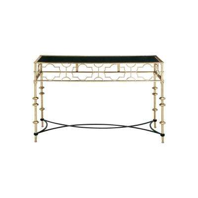 Polished Light Gold Lattice Console Table