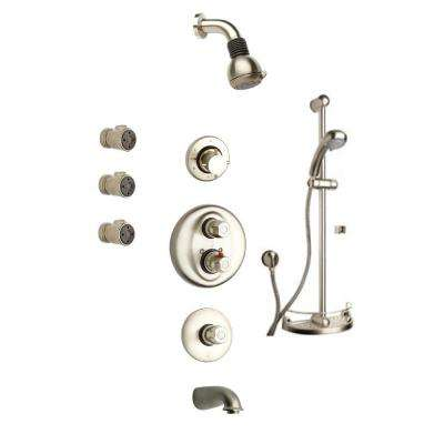 Water Harmony Shower System 8 in Brushed Nickel