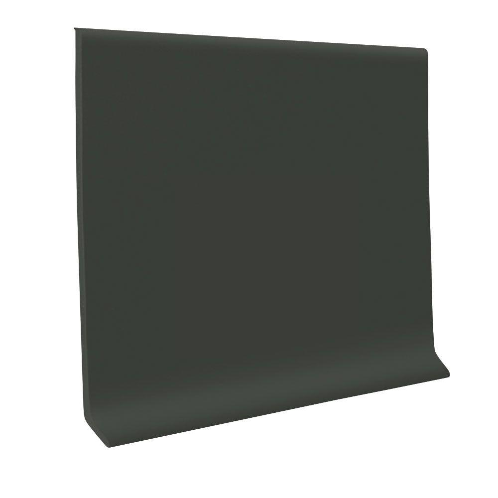 ROPPE Pinnacle Black Brown 6 in. x 120 ft. x 1/8 in. Rubber Wall Cove Base Coil