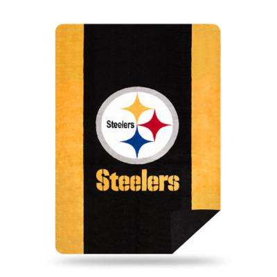 Steelers Multi Color Acrylic Sliver Knit Throw