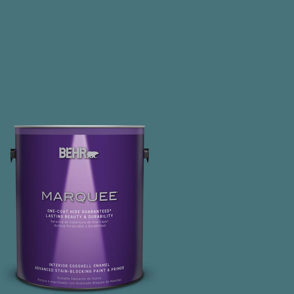 1 gal. #HDC-FL15-03 Blue Sage Eggshell Enamel Interior Paint