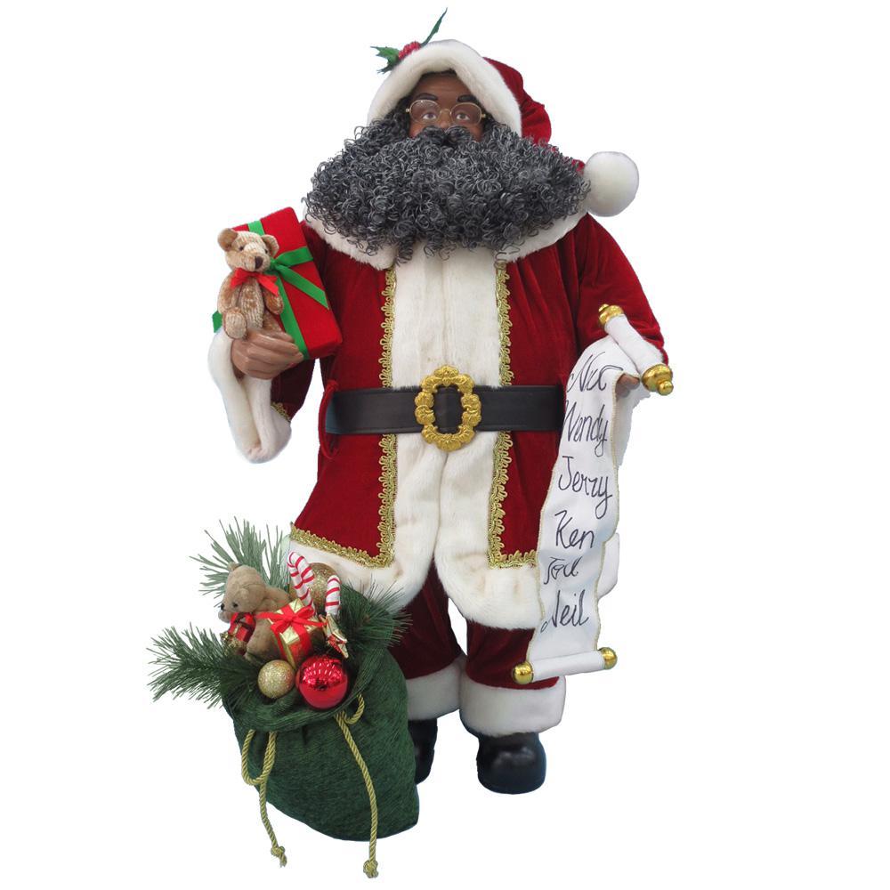 36 in. Ethnic Standing Santa