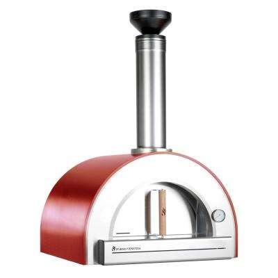Pronto 200 Wood Burning Counter Top Oven 20 in. x 24 in. in Red