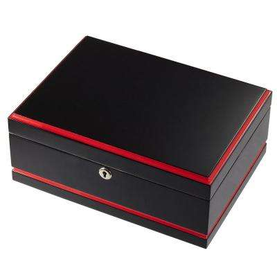 Hydra Black and Red Cigar Humidor