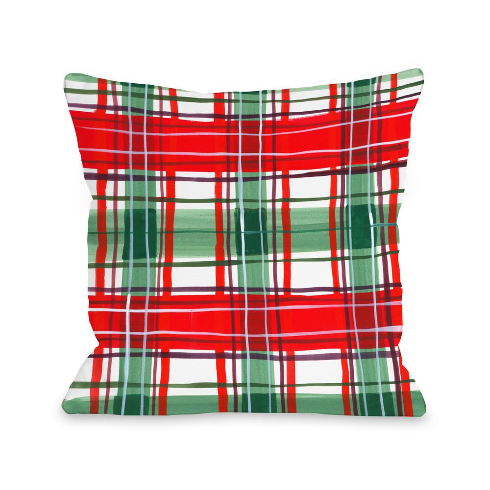merry christmas santa burlap 16 in x 16 in decorative pillow 74566pl16 the home depot - Christmas Decorative Pillows