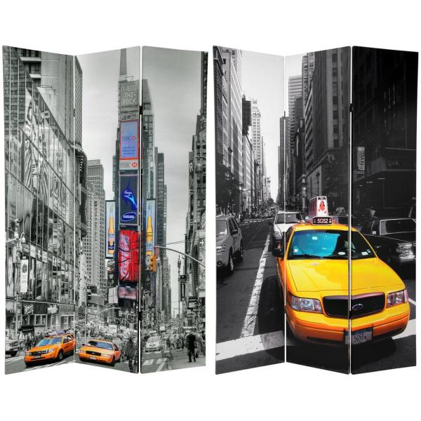 Oriental Furniture 6 ft. Printed 3-Panel Room Divider CAN-TAXI