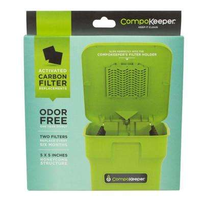Replacement Carbon Filter for 6 Gal. CompoKeeper Compost Bin (2 Filters)