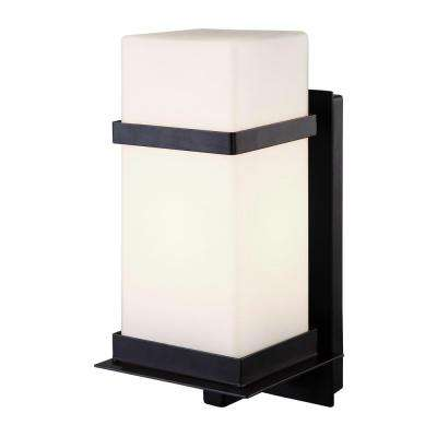 Havana 1-Light Black Outdoor Wall Mount Lantern
