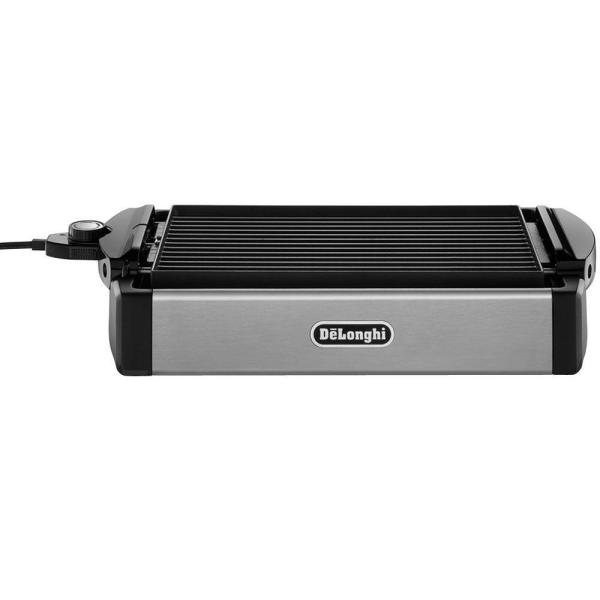 DeLonghi 2-in-1 Reversible 140 sq. in. Stainless Steel Indoor Grill with Non-Stick Surface