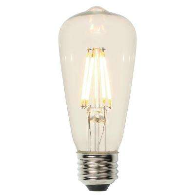 40W Equivalent ST15 Dimmable Filament LED Light Bulb Soft White