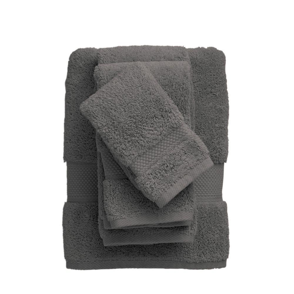 Legends Sterling Dark Gray Solid Supima Cotton Bath Towel