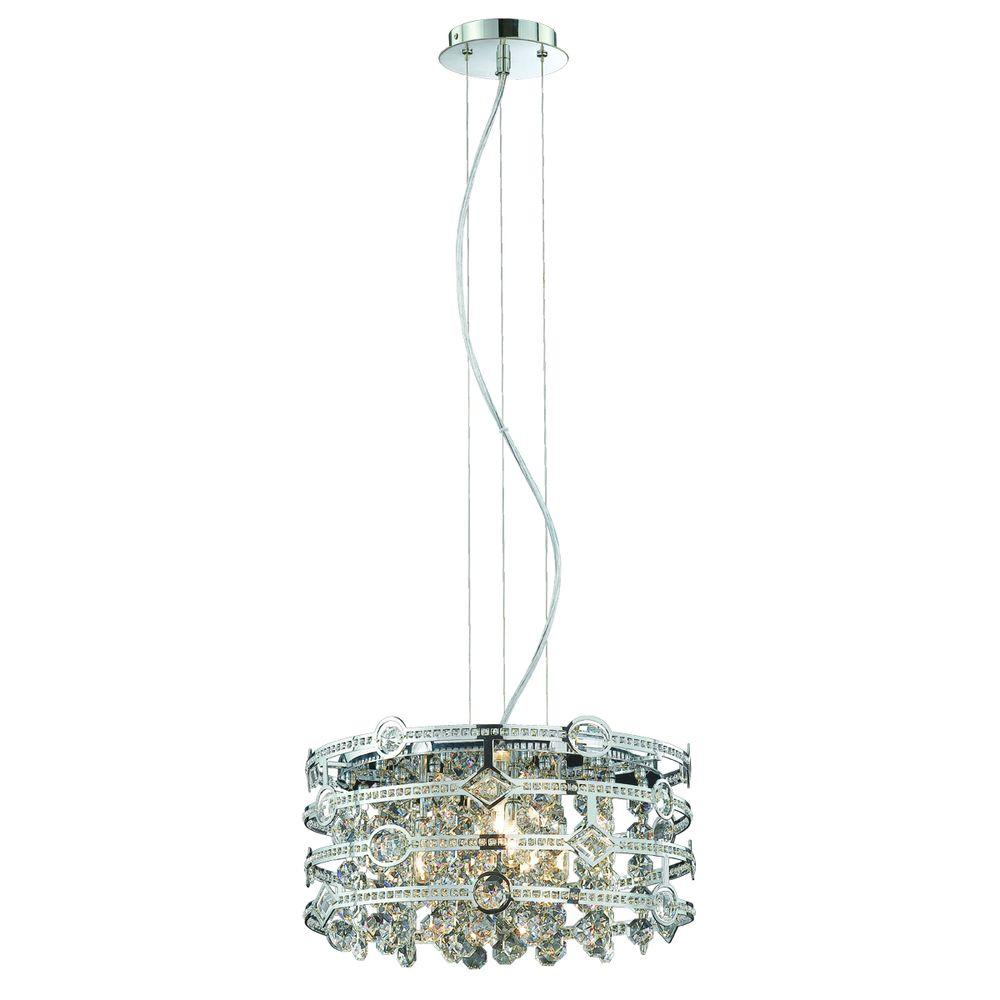 Eurofase Mica Collection 4-Light Chrome Pendant
