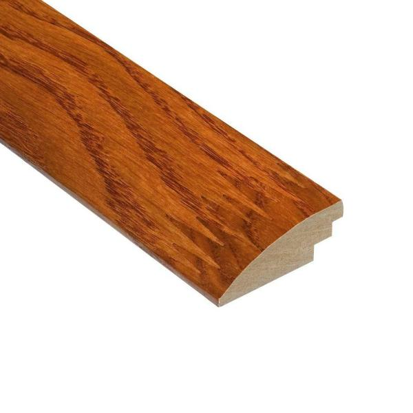 High Gloss Oak Gunstock 3/8 in. Thick x 2 in. Wide x 78 in. Length Hard Surface Reducer Molding