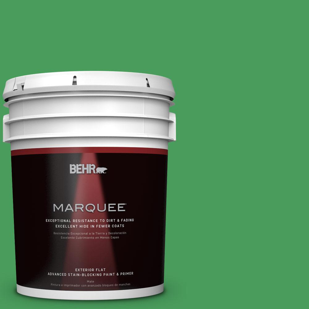 BEHR MARQUEE 5-gal. #P400-6 Clover Patch Flat Exterior Paint